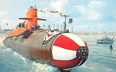 shi400029 - Submarines Post Card Old Vintage Antique Postcard