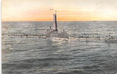 shi400043 - Submarines Post Card Old Vintage Antique Postcard