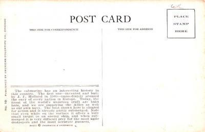 shi400043 - Submarines Post Card Old Vintage Antique Postcard  back