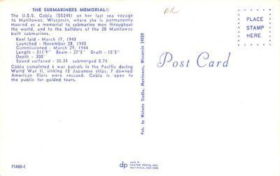 shi400049 - Submarines Post Card Old Vintage Antique Postcard  back