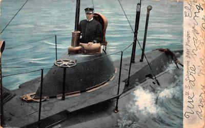 shi400085 - Submarines Post Card Old Vintage Antique Postcard