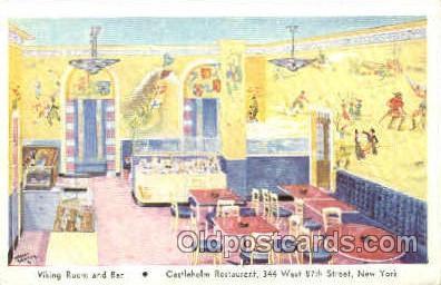 shp001057 - Castleholm Restaurant New York, USA Postcard Post Cards Old Vintage Antique