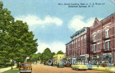 shp001058 - Main Street Richfield Springs, NY, USA Postcard Post Cards Old Vintage Antique