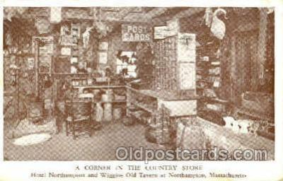 shp001064 - Corner in the Country Store Northampton, MA, USA Postcard Post Cards Old Vintage Antique