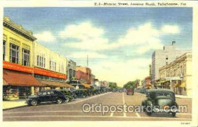 shp001077 - Monroe Street Tallahassee, FL, USA Postcard Post Cards Old Vintage Antique