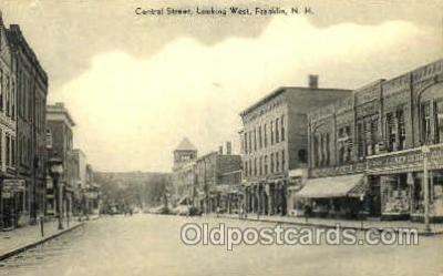 shp001090 - Central Street Franklin, NH, USA Postcard Post Cards Old Vintage Antique