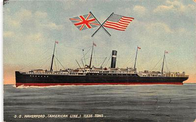 shp010053 - American Line Ship Postcard Old Vintage Antique Post Card