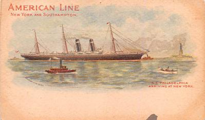 shp010059 - American Line Ship Postcard Old Vintage Antique Post Card