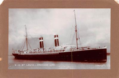 shp010069 - American Line Ship Postcard Old Vintage Antique Post Card