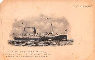 shp010075 - Clyde Steamship Company Postcard Old Vintage Antique Post Card