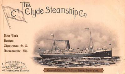shp010077 - Clyde Steamship Company Postcard Old Vintage Antique Post Card