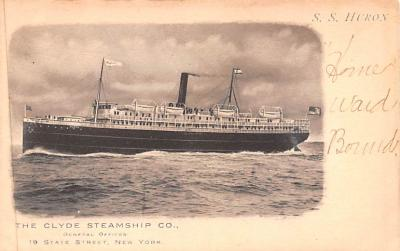 shp010081 - Clyde Steamship Company Postcard Old Vintage Antique Post Card