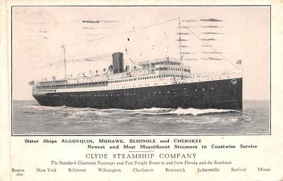 shp010083 - Clyde Steamship Company Postcard Old Vintage Antique Post Card