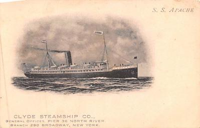 shp010085 - Clyde Steamship Company Postcard Old Vintage Antique Post Card