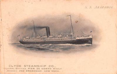 shp010095 - Clyde Steamship Company Postcard Old Vintage Antique Post Card