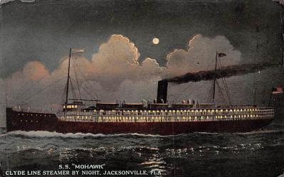 shp010099 - Clyde Steamship Company Postcard Old Vintage Antique Post Card