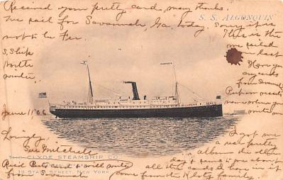 shp010101 - Clyde Steamship Company Postcard Old Vintage Antique Post Card