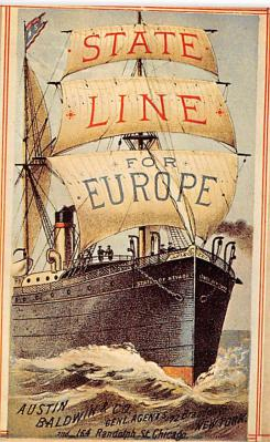 shp010105 - Sail Boat Postcard Old Vintage Antique Post Card