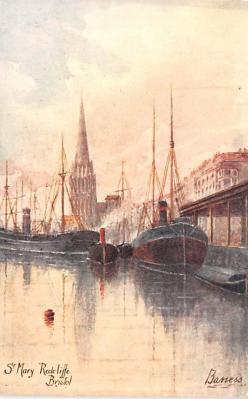 shp010107 - Sail Boat Postcard Old Vintage Antique Post Card