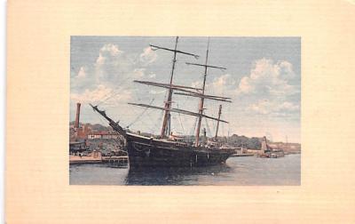 shp010109 - Sail Boat Postcard Old Vintage Antique Post Card