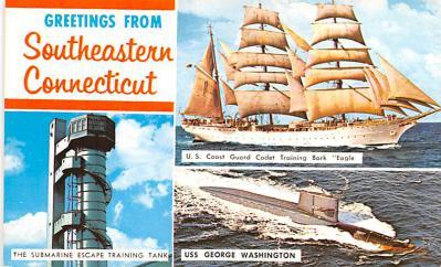 shp010111 - Sail Boat Postcard Old Vintage Antique Post Card