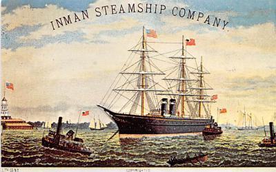 shp010121 - Sail Boat Postcard Old Vintage Antique Post Card