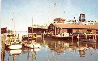 shp010127 - Sail Boat Postcard Old Vintage Antique Post Card