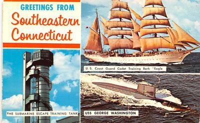 shp010131 - Sail Boat Postcard Old Vintage Antique Post Card