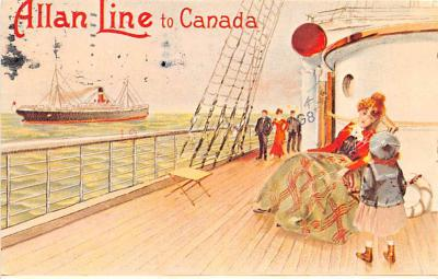 shp010151 - Allan Line Ship Postcard Old Vintage Antique Post Card