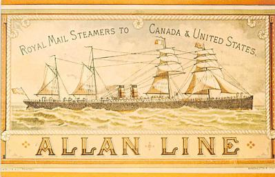 shp010157 - Allan Line Ship Postcard Old Vintage Antique Post Card