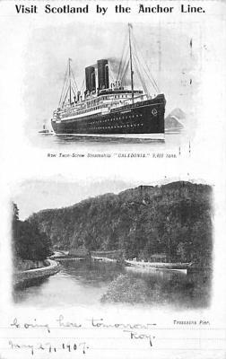 shp010163 - Anchor Line Ship Postcard Old Vintage Antique Post Card