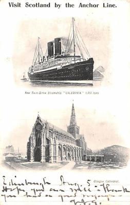 shp010165 - Anchor Line Ship Postcard Old Vintage Antique Post Card