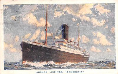 shp010167 - Anchor Line Ship Postcard Old Vintage Antique Post Card