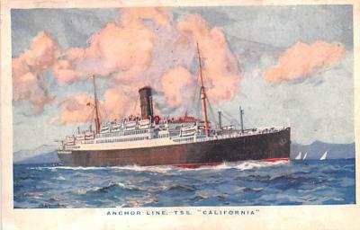 shp010169 - Anchor Line Ship Postcard Old Vintage Antique Post Card