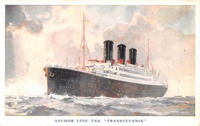 shp010173 - Anchor Line Ship Postcard Old Vintage Antique Post Card