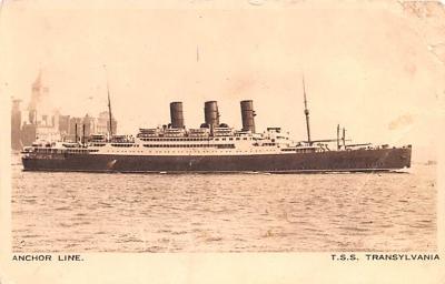 shp010177 - Anchor Line Ship Postcard Old Vintage Antique Post Card