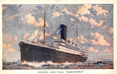 shp010179 - Anchor Line Ship Postcard Old Vintage Antique Post Card