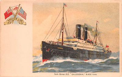 shp010183 - Anchor Line Ship Postcard Old Vintage Antique Post Card