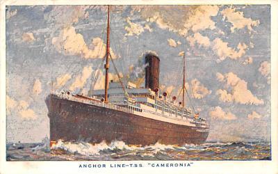 shp010185 - Anchor Line Ship Postcard Old Vintage Antique Post Card