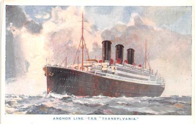 shp010187 - Anchor Line Ship Postcard Old Vintage Antique Post Card