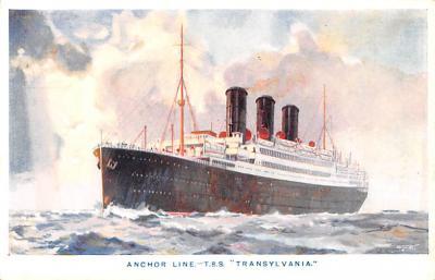 shp010189 - Anchor Line Ship Postcard Old Vintage Antique Post Card