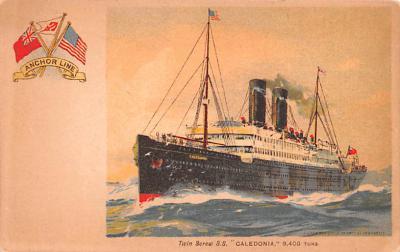 shp010193 - Anchor Line Ship Postcard Old Vintage Antique Post Card