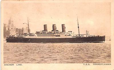 shp010195 - Anchor Line Ship Postcard Old Vintage Antique Post Card