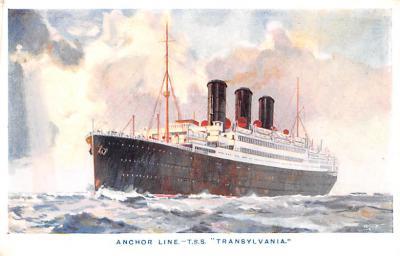 shp010197 - Anchor Line Ship Postcard Old Vintage Antique Post Card