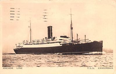 shp010201 - Anchor Line Ship Postcard Old Vintage Antique Post Card