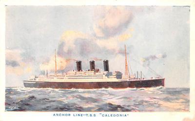 shp010203 - Anchor Line Ship Postcard Old Vintage Antique Post Card