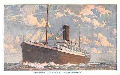 shp010207 - Anchor Line Ship Postcard Old Vintage Antique Post Card