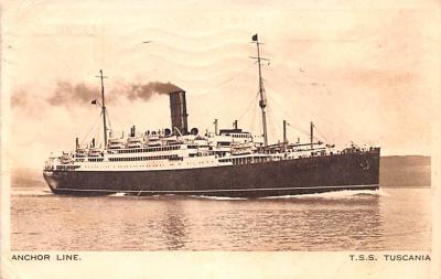 shp010211 - Anchor Line Ship Postcard Old Vintage Antique Post Card