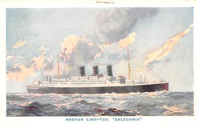 shp010213 - Anchor Line Ship Postcard Old Vintage Antique Post Card
