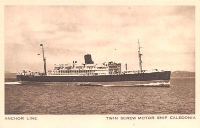 shp010215 - Anchor Line Ship Postcard Old Vintage Antique Post Card